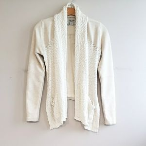 Lucky Lotus Open Front Sweater Jacket